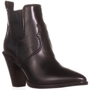 Coach Black Cowboy Booties - Brand New - Size 6.5
